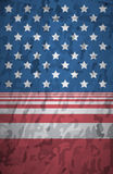 Closeup of grunge and vertical American flag Stock Images