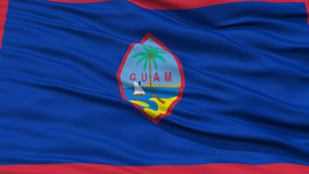 Closeup Guam Flag, USA state Royalty Free Stock Photos