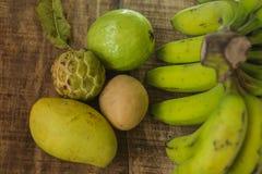 Closeup Guava Sugar-apple Sapodilla Mango Banana Royalty Free Stock Photo