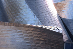 Closeup of the Guggenheim, Bilbao Royalty Free Stock Image