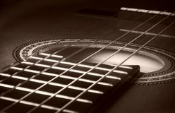 Closeup of guitar stock images