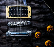 A closeup of a guitar Stock Image