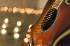 Closeup of guitar Stock Photography