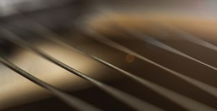 Closeup of Guitar Strings royalty free stock photos