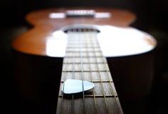 Closeup of Guitar Strings for Music Stock Photos