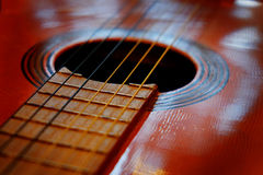 Closeup of Guitar Strings for Music Stock Photos