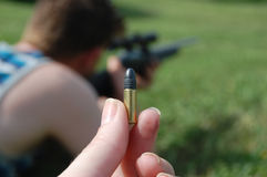 Closeup of Gun Bullet Stock Photos