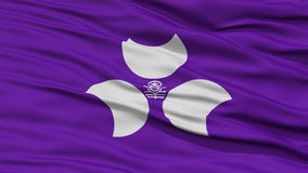 Closeup Gunma Japan Prefecture Flag Stock Photos