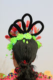 Hair decoration for Spring Festival yangko dance in china stock photos