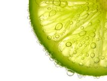Closeup a half lime Royalty Free Stock Photo
