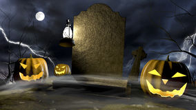 Halloween Scene 2 Royalty Free Stock Photos