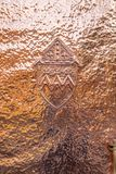 Closeup Hammered Copper. Front Door stock images