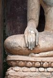 Closeup of hand  buddha statue . Royalty Free Stock Photography
