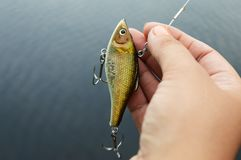 Fishing Lure Closeup Stock Photography