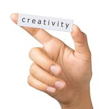 Creativity label Royalty Free Stock Photo