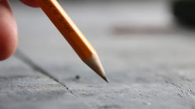 Closeup hand writing - Back to School - written in pencil stock video