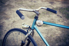 Closeup of handlebar a bike old Royalty Free Stock Images