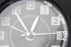 Clock. Closeup of hands on clock face Royalty Free Stock Image