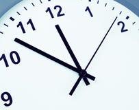 Clock face detail. Closeup of hands on clock face Stock Image