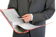 Closeup on hands holding folder Stock Photography