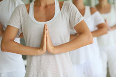 Closeup of hands on meditation exercise Royalty Free Stock Photo