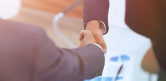 Closeup. handshake financial partners Royalty Free Stock Image