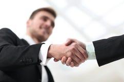 Closeup handshake proven business partners Stock Photo