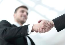 Closeup handshake proven business partners Royalty Free Stock Photo