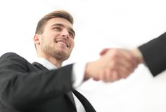 Closeup handshake proven business partners Royalty Free Stock Photography