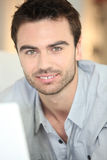Closeup of a handsome man Stock Photography