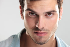 Closeup of a handsome man Stock Images