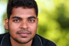 Closeup of Handsome middle-aged Indian/asian youth Stock Images