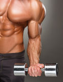 Closeup of a handsome power athletic man Stock Photography