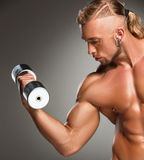 Closeup of a handsome power athletic man Royalty Free Stock Image