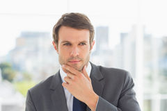 Closeup of a handsome young businessman outdoors Royalty Free Stock Image