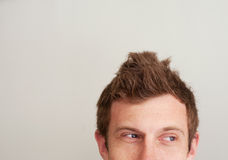 Closeup of a handsome young man's eyes Royalty Free Stock Image