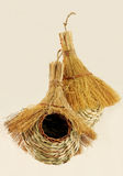 Closeup of handwoven bird nests Royalty Free Stock Image