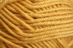 Closeup of hank wool. For backgrounds or textures Royalty Free Stock Photography
