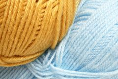 Closeup of hanks wool. For backgrounds or textures Royalty Free Stock Images