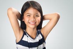 Closeup happy and beautiful little asian girl Stock Photos