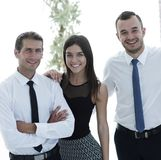 Closeup of a happy business team of people. Royalty Free Stock Photography