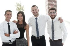 Closeup of a happy business team of people. Royalty Free Stock Images