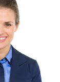 Closeup on happy business woman Royalty Free Stock Image