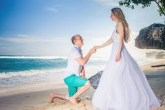 Closeup Happy couple at the beach in Thailand. Stock Image
