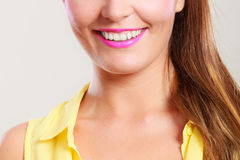 Closeup of happy pretty pin up girl. Royalty Free Stock Photography