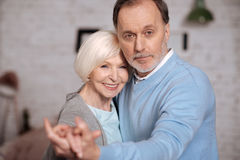 Closeup of happy senior people royalty free stock photos