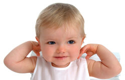 Closeup of Happy Toddler stock photos