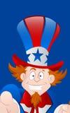 Closeup of Happy Uncle Sam Stock Photo