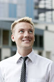 Closeup of a happy young business man Stock Images