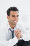Closeup of a happy young businessman Stock Images